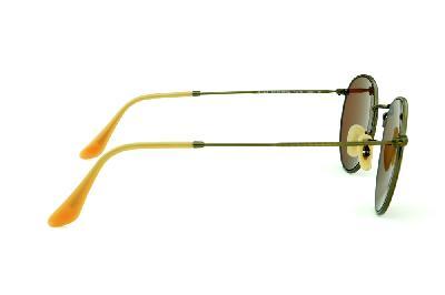 27662faa6 ... Óculos Ray-Ban Round RB3447 metal bronze/bege redondo com lente  espelhada vermelha ...
