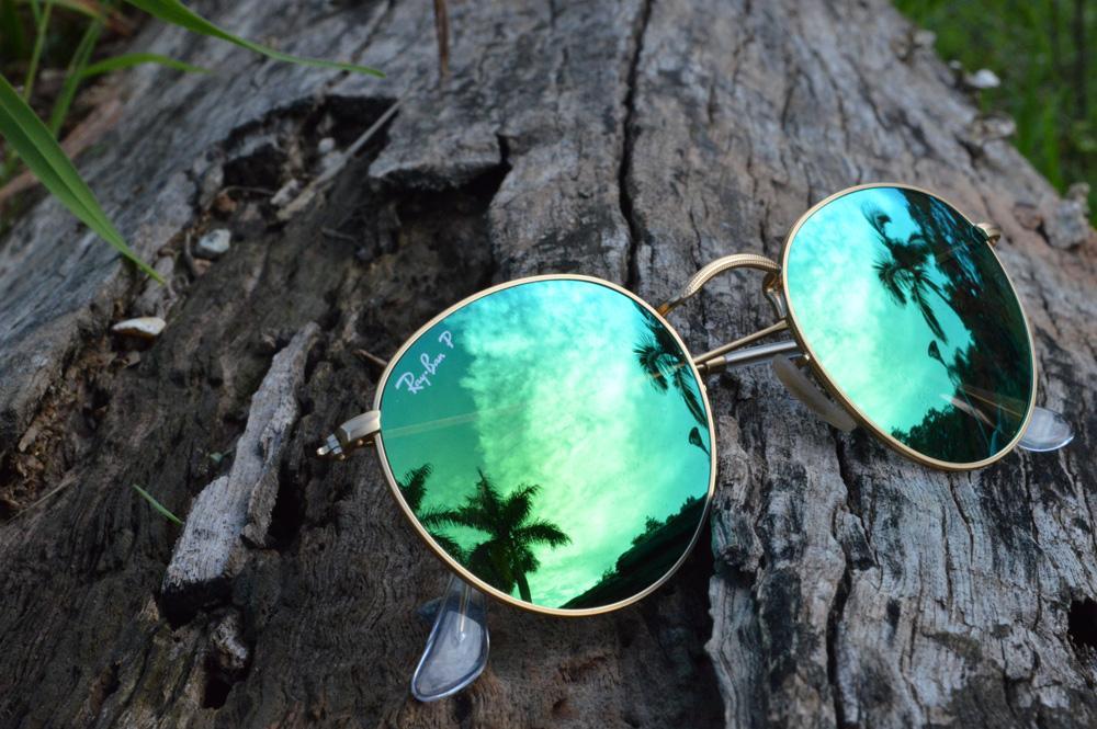 Oculos Ray Ban Dourado Com Lente Verde   Louisiana Bucket Brigade 9a133f968a