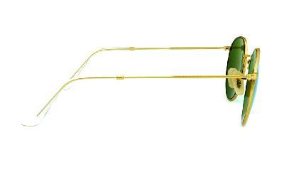 f1551e6b4 ... Óculos Ray-Ban Round RB3447 POLARIZADO metal dourado redondo com lente  espelhada verde ...