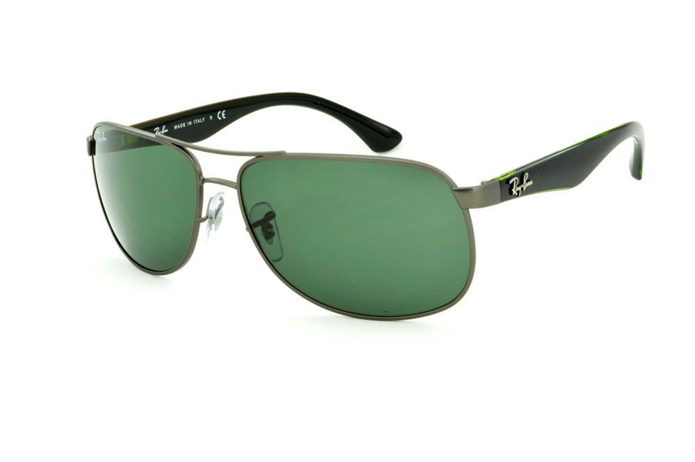 Óculos Ray-Ban RB3502 cinza fosco lente verde e haste preta. Óculos Ray-Ban  RB6301 grafite fio de nylon e haste azul 078232bf6b