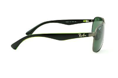 Óculos Ray-Ban RB3502 cinza fosco lente verde e haste preta. Óculos Ray-Ban  RB5228 tamanho 53 haste estampada branca 8b90673d3a