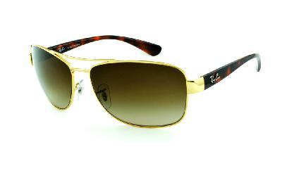 Óculos Ray-Ban RB3518 dourado haste efeito onça demi tartaruga 7780097e78