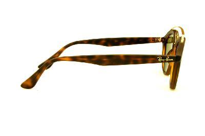 d06fd70447380 ... Óculos Ray-Ban de Sol RB4257 Gatsby Small tartaruga fosco com lente  espelhada azul ...