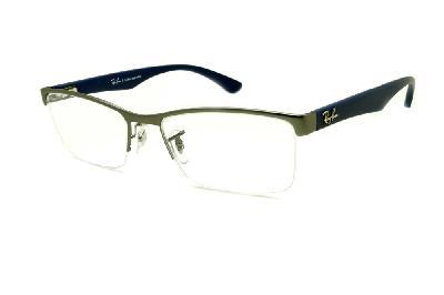 ... efeito onça demi tartaruga. Óculos Ray-Ban RB6301 grafite fio de nylon  e haste azul eaaf595410