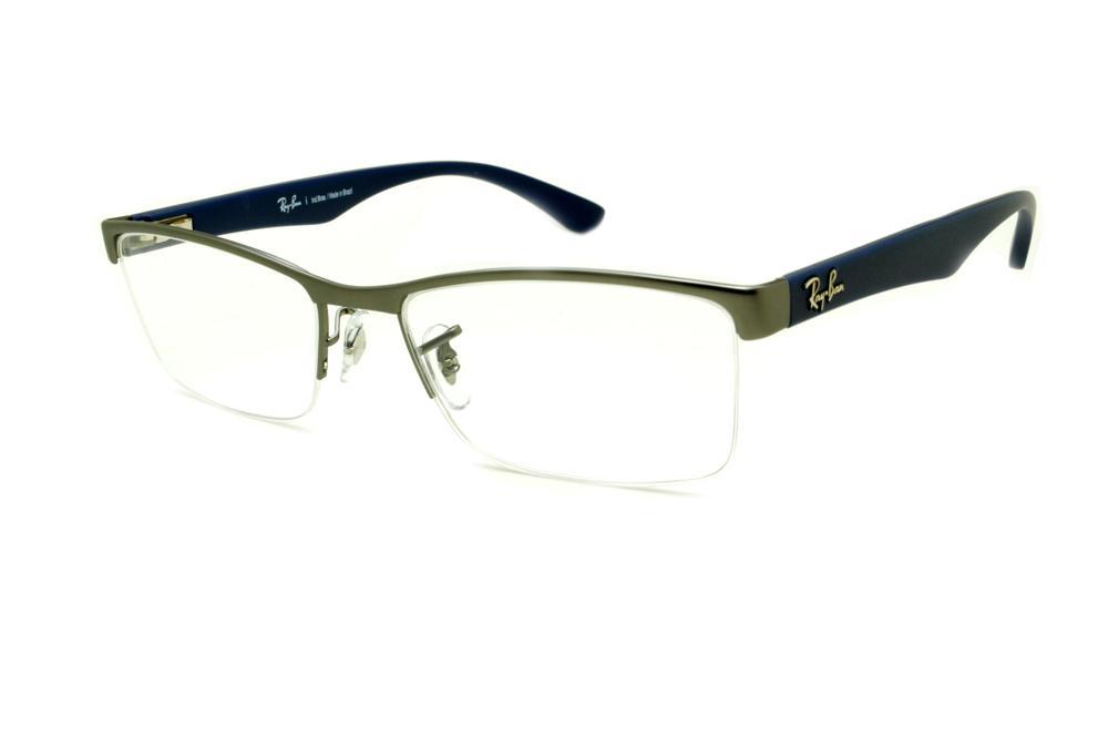 5c3c9a39d14ee Óculos Ray-Ban RB6301 grafite fio de nylon e haste azul