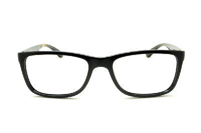... Óculos Ray-Ban RB7027 preto com haste tartaruga demi efeito onça de mola  flexível ... 5c34b016b8