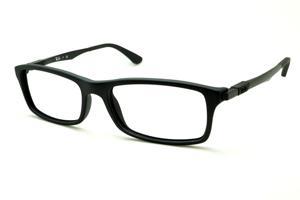 29fe0937edb24 Óculos Ray-Ban preto fosco com haste metal de mola flexível