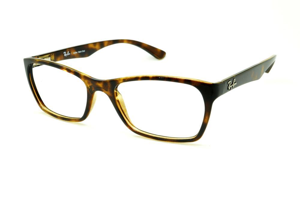 Óculos Ray-Ban tartaruga demi efeito onça em acetato com haste flexível de  mola f21153c5f3