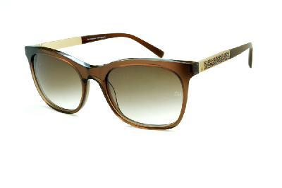 6bcbdee059f1e Óculos de Sol Ana Hickmann HI9198 em acetato marrom e haste giratória  colorido dourada ...