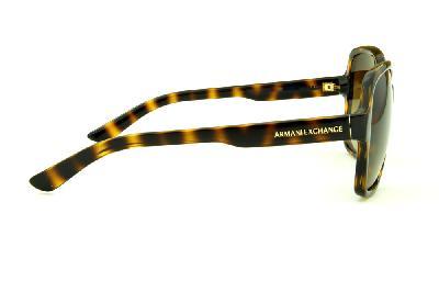 198789f7c47 ... Óculos de Sol Armani Exchange AX4029S tartaruga efeito onça com lente  marrom degradê e logo dourado ...