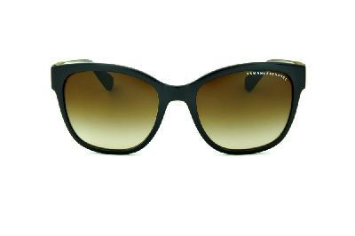 47ed37202dd ... Óculos de Sol Armani Exchange AX4046SL marrom com logo redondo e lente  marrom degradê ...