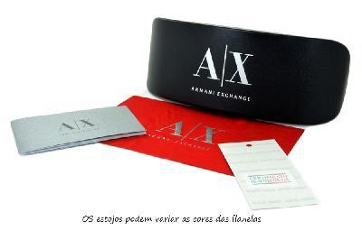 9e5ea8f4582 ... Óculos de Sol Armani Exchange AX4046SL marrom com logo redondo e lente  marrom degradê