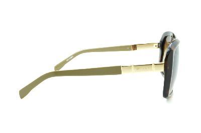 f2d736ca7b8e8 ... Óculos de Sol Bulget cor demi tartaruga efeito onça com haste verde  oliva e detalhe ...