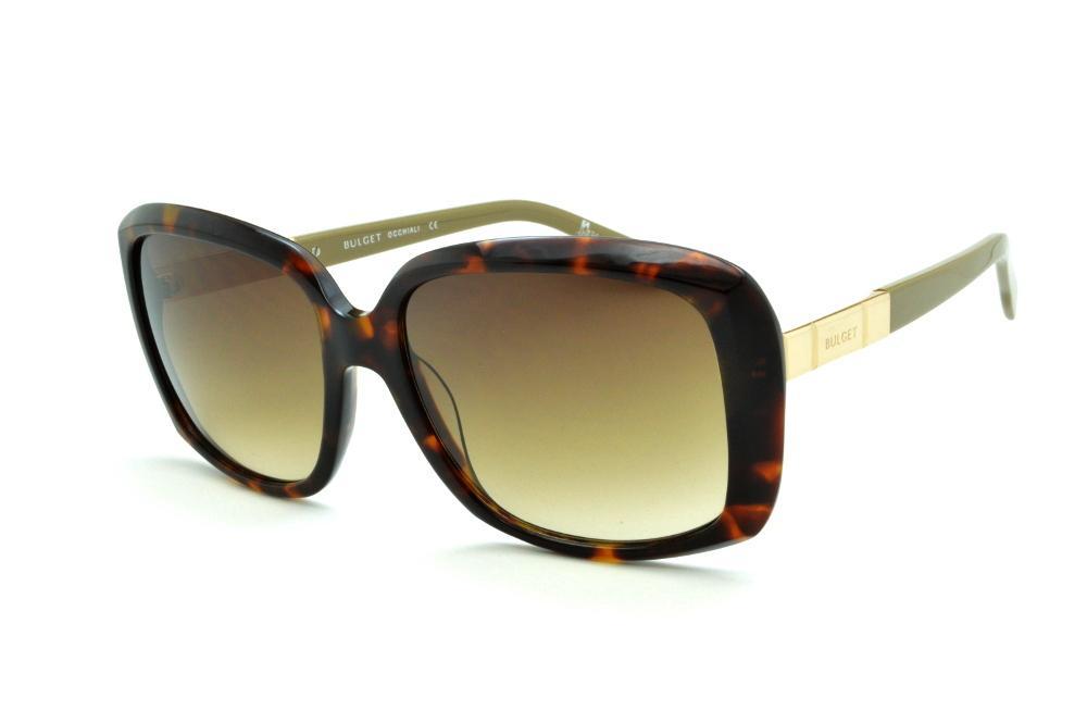 ab6c8ac11f952 Óculos de Sol Bulget cor demi tartaruga efeito onça com haste verde oliva e  detalhe