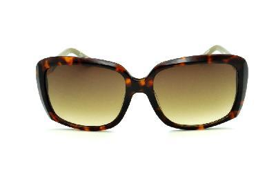 e2ce439ad3f79 ... Óculos de Sol Bulget cor demi tartaruga efeito onça com haste verde  oliva e detalhe ...