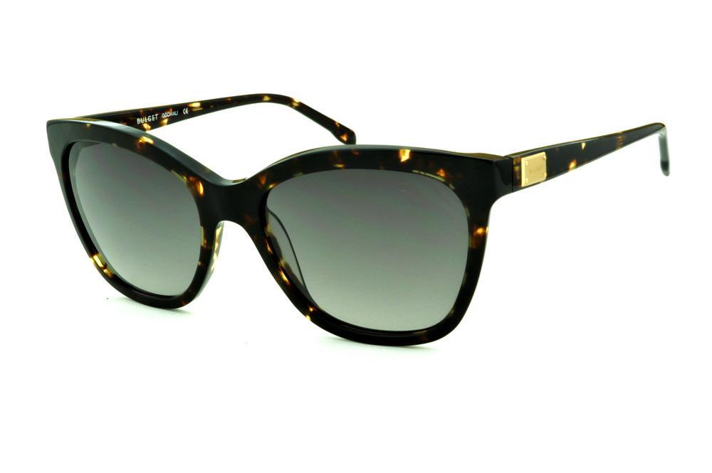 951e03d41c442 Óculos de Sol Bulget cor demi tartaruga efeito onça e detalhe dourado