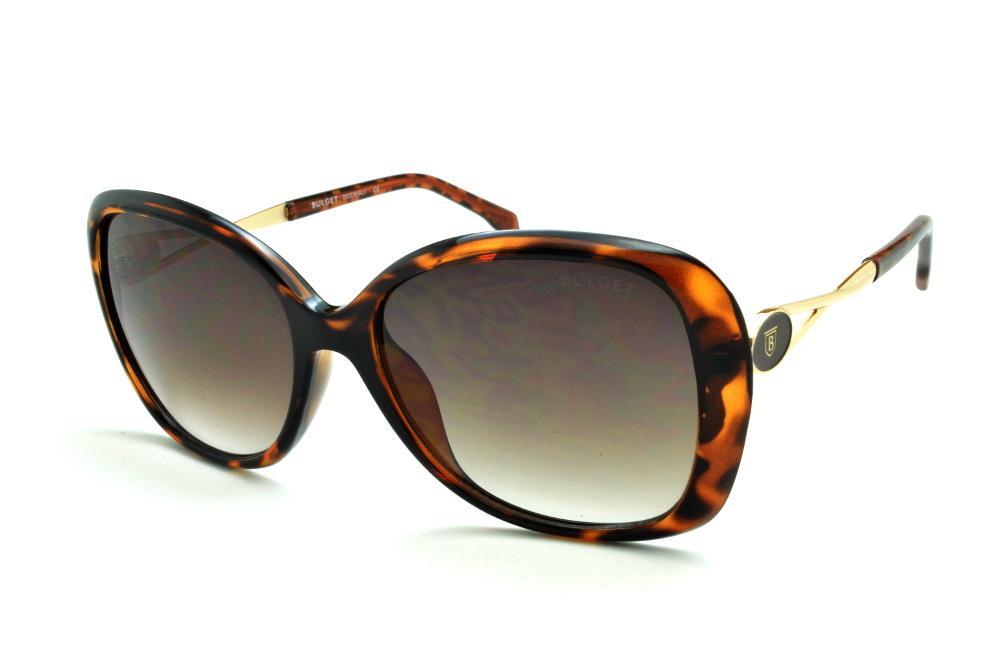 a617187c1254b Óculos de Sol Bulget cor demi tartaruga efeito onça e detalhe dourado