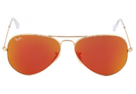 997611b6f9294 ... Óculos Ray-Ban Aviador RB3025 dourado com lente vermelha amarela  espelhada ...