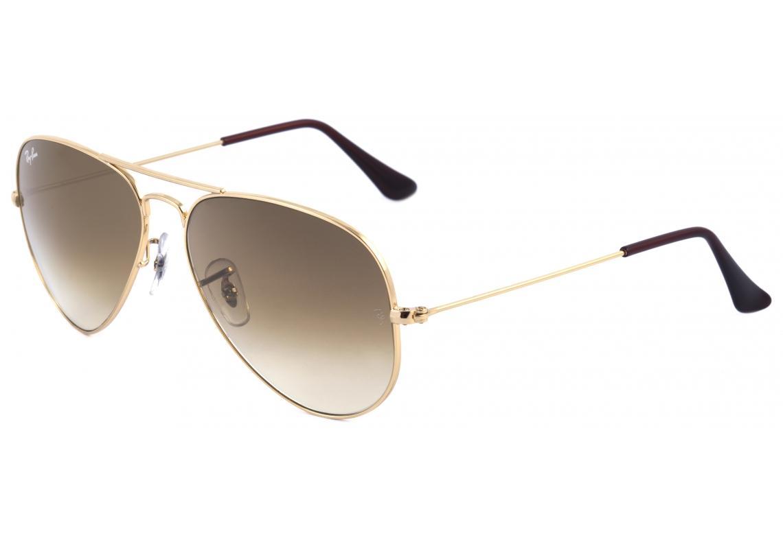 0f3c4316fc9a1 Óculos Ray-Ban Aviador RB3025 dourado e lente degradê marrom