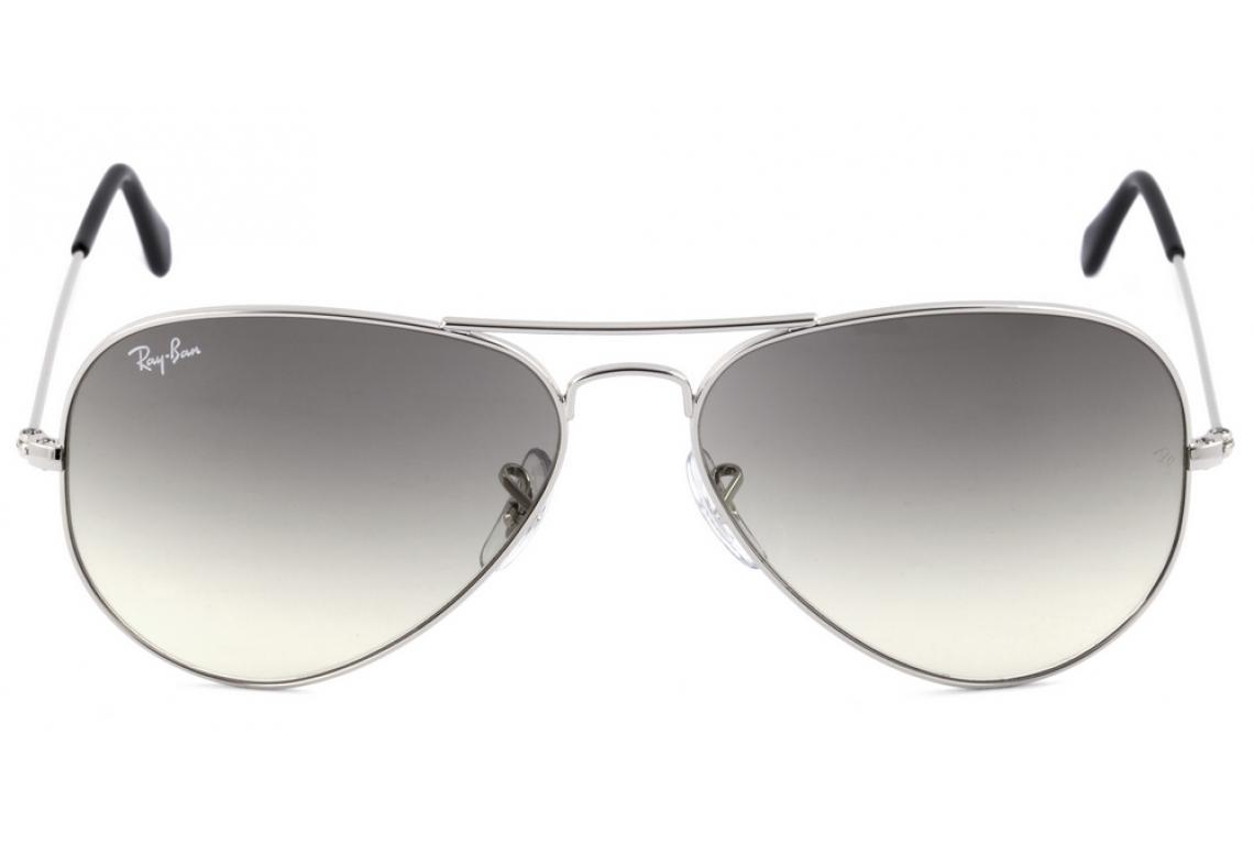 d42448ef6fd55 Óculos Ray-Ban Aviador RB3025 prata lente degradê fumê