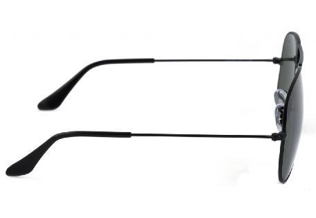 a178a85a1f69d ... Óculos Ray-Ban Aviador RB3025 preto com lente preta tamanho 58