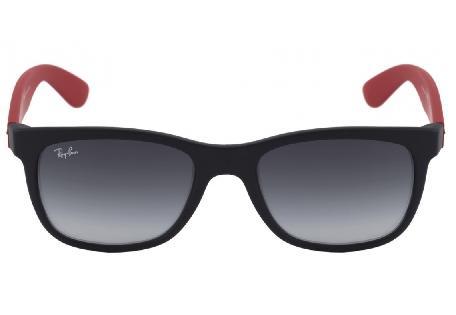 316aadd068cd1 ... Óculos de Sol Ray-Ban 4219 acetato preto com haste vermelha ...