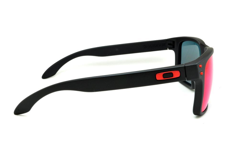 74d1b7eec8ac4 Óculos Oakley OO9102L Holbrook preto e lente roxa violeta azul