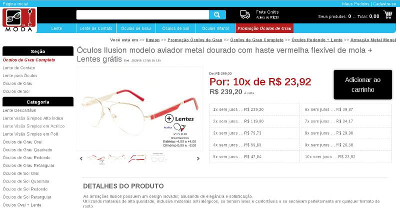 854d668f01198 Comprar armação de óculos de grau completo com lente