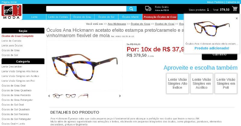 2514f43dd Comprar armação de óculos de grau completo com lente | Óculos e ...